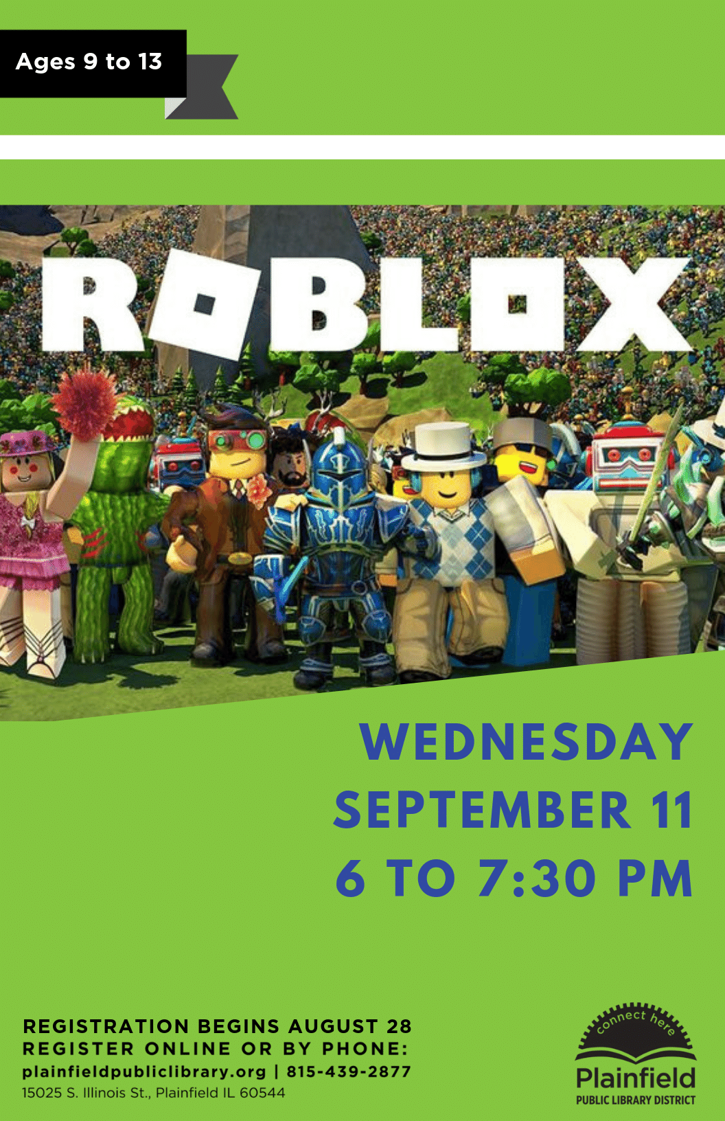 I Roblox Club Roblox Club Plainfield Public Library